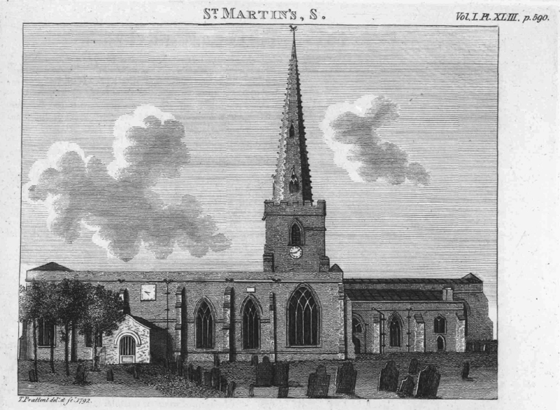 Leicester Cathedral Engraving 1792