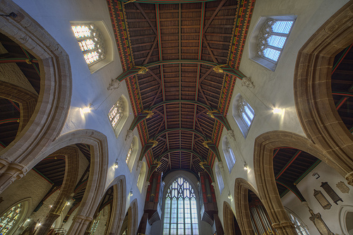 Aisles and Roof at Leicester Cathedral