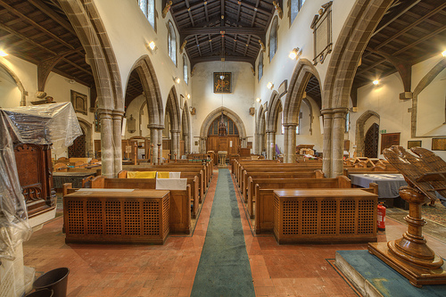 Belgrave church nave