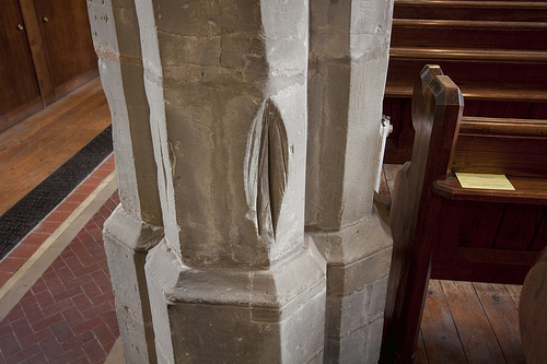 Dunton Bassett Church Scored Column