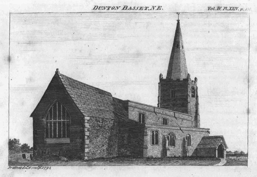 Dunton Bassett Church 1792