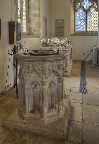 Exton church Rutland Font